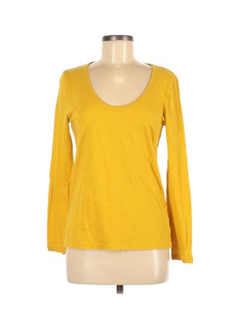 J.Crew 100% Cotton Solid Yellow Long Sleeve T-Shirt Size M - 69% off | thredUP
