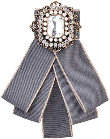 OBONNIE Neck Bow Tie Pin Brooch Classic Bowknot Necktie Jabot Collar Neck Tie Cravat Suit Accessory