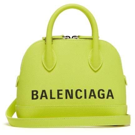 Ville Xxs Leather Cross Body Bag - Womens - Yellow