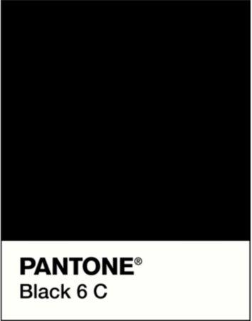 Pantone color black