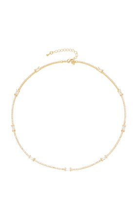 Gold-Plated Crystal Necklace by FALLON | Moda Operandi