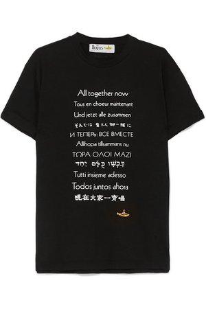 Stella McCartney | + NET SUSTAIN The Beatles oversized printed cotton-jersey T-shirt | NET-A-PORTER.COM