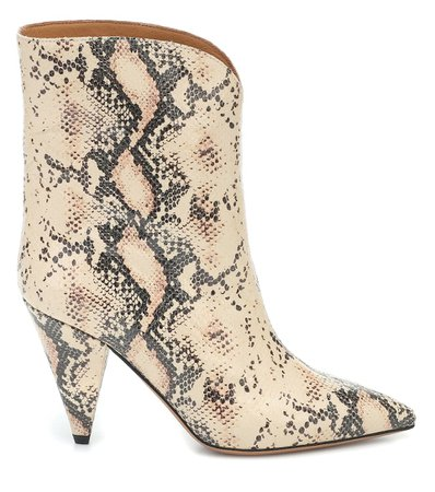 Leinee Leather Ankle Boots - Isabel Marant | Mytheresa