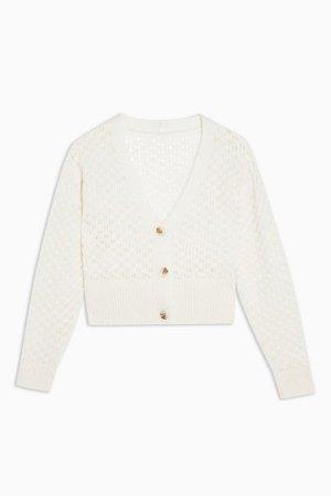 Ivory Honeycomb Cardigan | Topshop