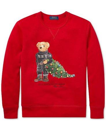 Polo Ralph Lauren Big Boys Holiday Bear Fleece Sweatshirt & Reviews - Sweatshirts & Hoodies - Kids - Macy's
