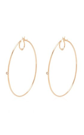 Gold-Vermeil Diamond Hoops by SCOSHA | Moda Operandi