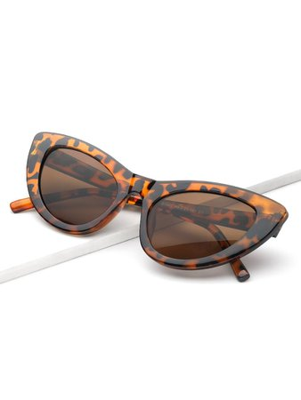 Leopard Pattern Cat Eye SunglassesFor Women-romwe