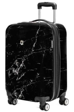 black marble suitcase