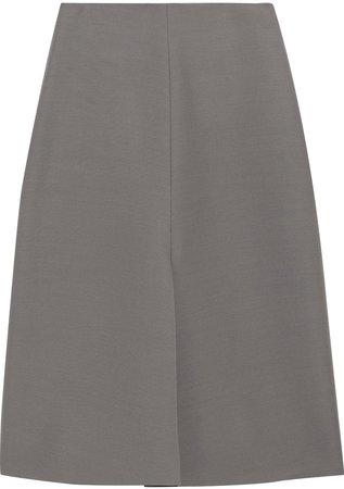 Bea Wool And Silk-blend Cady Midi Skirt