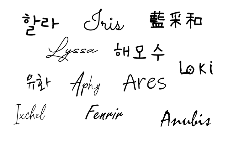 Heavenscent and Dei5 Stage Names (DM for font names)