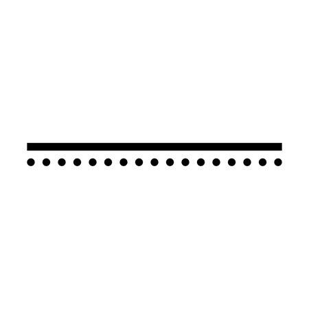 black line & dots