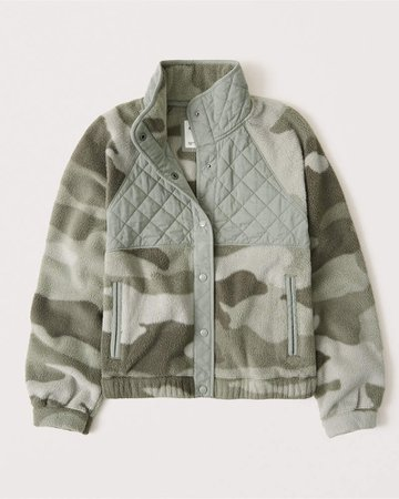 Women's Fleece Bomber Jacket | Women's New Arrivals | Abercrombie.com