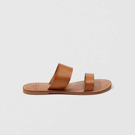 Abercrombie & Fitch Leather Slide Sandals ($38)