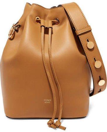 Mon Trésor Leather Bucket Bag - Tan