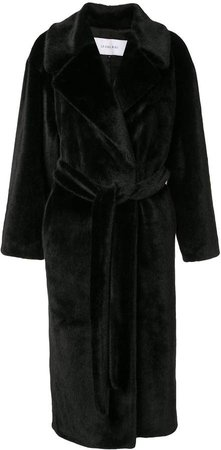 faux-fur robe coat