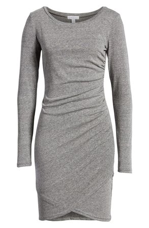 Leith Ruched Long Sleeve Dress | Nordstrom