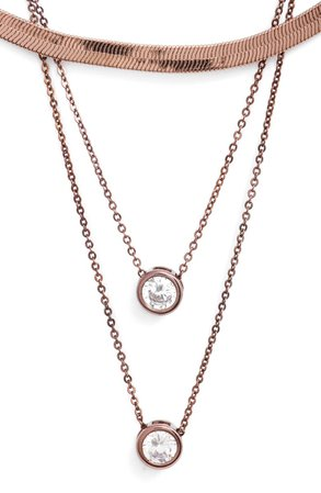8 Other Reasons x Draya Michele Gems for Her Triple Layer Necklace | Nordstrom