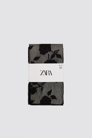 FLORAL TIGHTS - View All-ACCESSORIES-WOMAN | ZARA Greece
