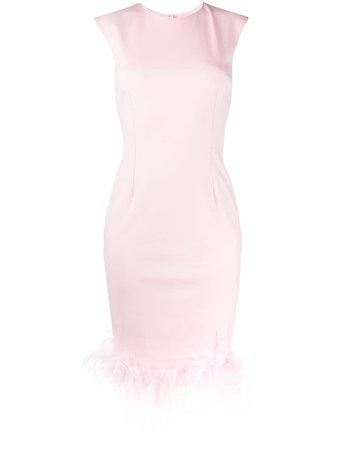 Styland Feather Trim Shift Dress - Farfetch