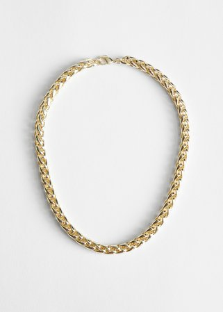 Twisted Chain Link Necklace - Gold - Necklaces - & Other Stories