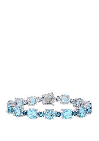 Belk & Co. 37.1 ct. t.w. Sky and London Blue Topaz Tennis Bracelet in Sterling Silver