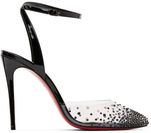 Black Spikaqueen 100 Heels