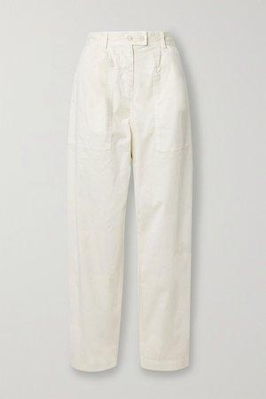 Ivory Cyro stretch-cotton tapered pants | Nili Lotan | NET-A-PORTER
