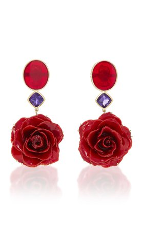 Bahina M'O Exclusive: One-Of-A-Kind Real Rose Earrings