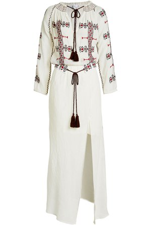Embroidered Cotton Maxi Dress Gr. M