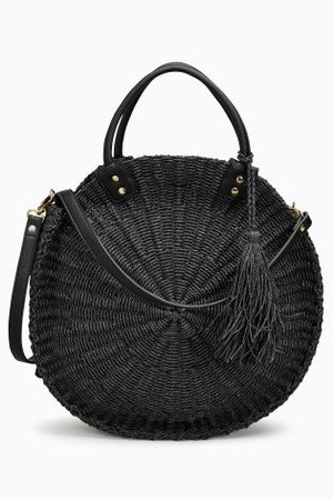 Buy Black Circle Straw Bag from the Next UK online shop