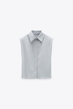 LIMITED EDITION SHOULDER PAD SHIRT | ZARA United States