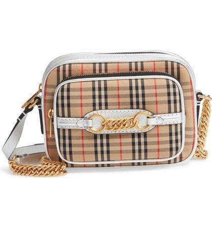 Burberry Vintage Check Link Crossbody Camera Bag (Regular Retail Price: $990) Brown
