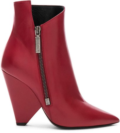 Niki Ankle Boots in Hot Red | FWRD