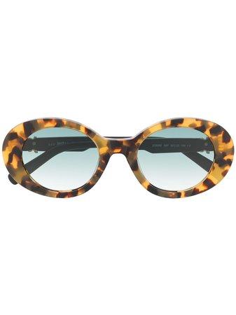 Just Cavalli gradient-lense Oval Sunglasses - Farfetch