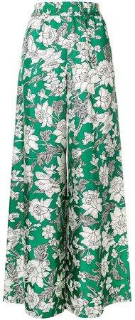 La Doublej floral print palazzo trousers