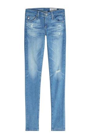 Distressed Skinny Jeans Gr. 25