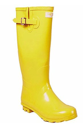 Amazon.com | Forever Young - Womens Wellie Rain Boot | Mid-Calf