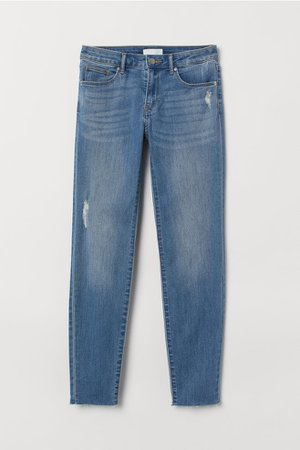 Cropped Twill Pants - Light denim blue - Ladies | H&M US