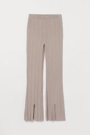 Knit Pants - Beige - Ladies | H&M US