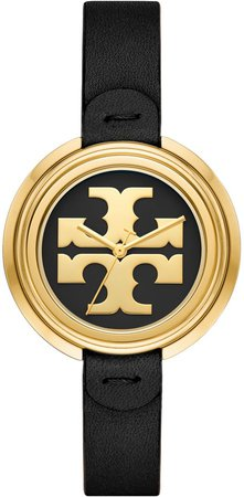 Miller Watch, Black Leather/Gold-Tone, 36 MM
