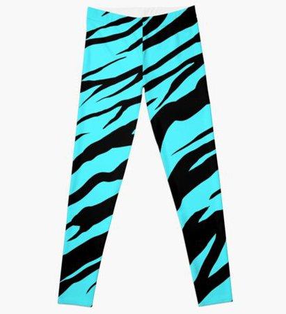 Turquoise tiger leggings