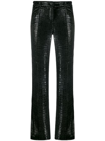 Chanel Pre-Owned 2004 Textured Trousers - Farfetch