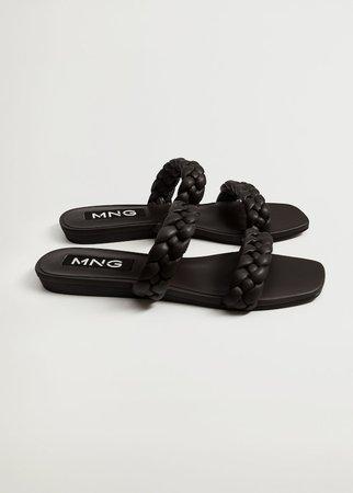 Braided straps sandals - Women | Mango USA