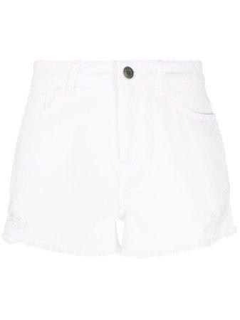 Twin-Set Distressed Denim Shorts - Farfetch