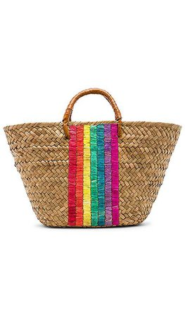 KAYU x REVOLVE St Tropez Leather Handle Tote in Rainbow   REVOLVE