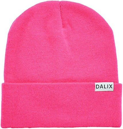 "DALIX Cuff Beanie Cap 12"" in Neon Pink at Amazon Men's Clothing store"