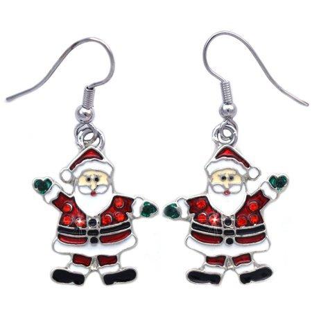 Coco Jewelry - cocojewelry Santa Clause Dangle Charm Earrings Christmas Holiday Jewelry - Walmart.com