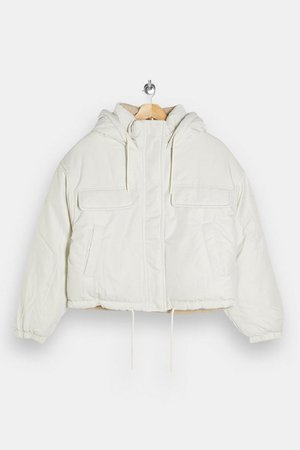 White Reversible Padded Puffer Jacket | Topshop