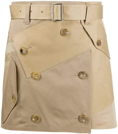 deconstructed utility mini skirt