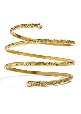 Etched Metal Upper Arm Band in Gold | VENUS